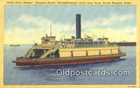 shi052209 - Ferry Steamer, Hampton Roads, Newport News Virginia, VA USA Ferry Ship Postcard Post Card