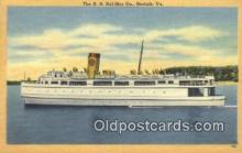shi052210 - The SS Del Mar Va, Norfolk, Virginia, VA USA Ferry Ship Postcard Post Card