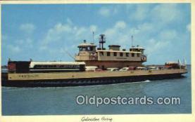 shi052212 - Galveston Ferry, Galveston, Texas, TX USA Ferry Ship Postcard Post Card