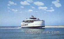 shi052217 - Ocracoke Sea Level Atlantic Ferry, Ocracoke, North Carolina, NC USA Ferry Ship Postcard Post Card