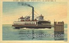 shi052218 - Ferry Seawells Point, Newport News, Virginia, VA USA Ferry Ship Postcard Post Card
