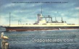 shi052219 - Ferry Hillsborough, St Petersburg, Florida, FL USA Ferry Ship Postcard Post Card