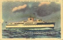 shi052222 - SS Pocahontas, Norfolk, Virginia, VA USA Ferry Ship Postcard Post Card