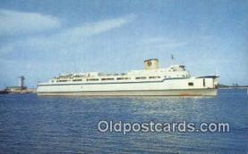 shi052224 - Elongated Automobile Ferry, The Princess Anne, Little Creek, Virginia, VA USA Ferry Ship Postcard Post Card