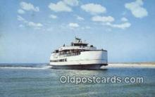 shi052226 - Ocracoke Sea Level Atlantic Ferry, Ocracoke, North Carolina, NC USA Ferry Ship Postcard Post Card