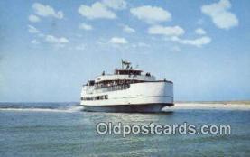 shi052226 - Ocracoke Sea Level Atlantic Ferry, Ocracoke, North Carolina, NC USA Ferry Ship Postcard Post Card