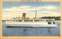 shi052228 - The SS Del Mar Va, Norfolk, Virginia, VA USA Ferry Ship Postcard Post Card