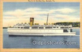shi052228 - The SS Del Mar Va, Norfolk, Virginia, VA USA Ferry Ship Postcard Post Card
