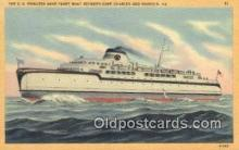 shi052234 - The SS Princess Anne Ferry Boat, Cape Charles, Virginia, VA USA Ferry Ship Postcard Post Card