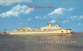 shi052237 - Elongated Automobile Ferry, The Princess Anne, Little Creek, Virginia, VA USA Ferry Ship Postcard Post Card