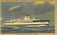 shi052240 - SS Pocahontas, Norfolk, Virginia, VA USA Ferry Ship Postcard Post Card