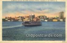 shi052241 - Norfolk Ferry, Norfolk, Virginia, VA USA Ferry Ship Postcard Post Card