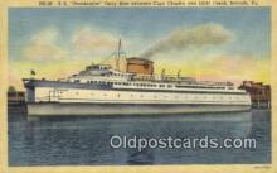 shi052243 - SS Pocahontas, Norfolk, Virginia, VA USA Ferry Ship Postcard Post Card