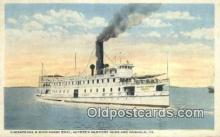 shi052245 - Chesapeake Bay And Ohio Ferry Boat, Norfolk Virginia, VA USA Ferry Ship Postcard Post Card