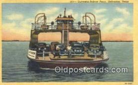 shi052246 - Galveston Bolivar Ferry, Galveston, Texas, TX USA Ferry Ship Postcard Post Card