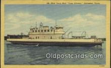 shi052247 - Cone Johnson, Galveston, Texas, TX USA Ferry Ship Postcard Post Card