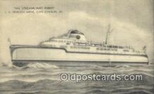 shi052252 - The Streamlined Ferry, SS Princess Anne, Cape Charles, Virginia, CA USA Ferry Ship Postcard Post Card