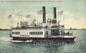 shi052254 - Ferry Steamer , San Diego, California, CA USA Ferry Ship Postcard Post Card