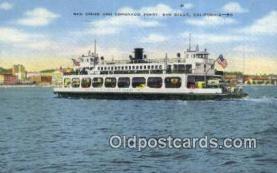 shi052255 - Ferry, San Diego, California, CA USA Ferry Ship Postcard Post Card