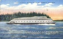 shi052256 - The Ferry Kalakala, Bremerton, Washington, WA USA Ferry Ship Postcard Post Card