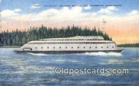 shi052256 - The Ferry Kalakala, Bremerton, Washington, WA USA Ferry Ship Postcard Post Card