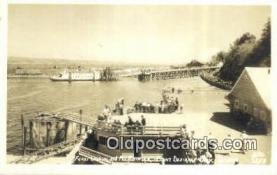 shi052257 - Real Photo, Ferry Landing & Mount rainier, Tacoma, Washington, WA USA Ferry Ship Postcard Post Card