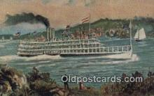 shi052261 - Steamboat Robert Fulton, Albany, New York, NY USA Ferry Ship Postcard Post Card
