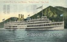 shi052262 - Hudson River Day Line Steamer, Robert Fulton, Albany, New York, NY USA Ferry Ship Postcard Post Card