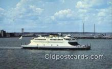 shi052269 - Newport Jamestown Ferry System, Narragansett Bay, Rhode Island, RI USA Ferry Ship Postcard Post Card
