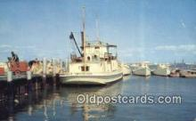 shi052271 - Mail And Passenger Boats, Tangier Island Harbor, Virginia, VA USA Ferry Ship Postcard Post Card