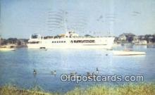 shi052274 - The Siasconset Leaving Hyannis, Cape Cod, Massachusetts, MA USA Ferry Ship Postcard Post Card