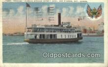 shi052275 - Ferry Boat Promise, Detroit, Michigan , MI USA Ferry Ship Postcard Post Card