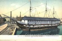 shi053001 - S.S. Constitution, Charlestown,Mass,USA Ship Ships Postcard Postcards