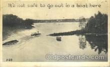 shi053005 - It's not safe to go out in a boat here Ship Ships Postcard Postcards