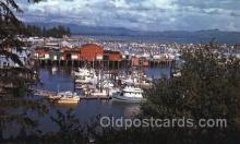 shi053012 - Port Basin-Ilwaco,Washington Ship Ships Postcard Postcards