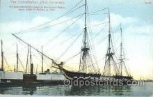 shi053019 - The Constitution, old ironsides, Boston,Mass,USA Ship Ships Postcard Postcards
