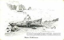 shi053035 - Maine Fisherman Boat, Boats, Postcard Postcards