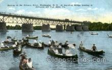 shi053040 - Washington D.C., USA at Aqueduct Bridge Boat, Boats, Postcard Postcards