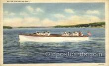 shi053078 - Motor Boating On Lake Ship Postcard Postcards