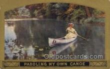 shi053079 - Paddling My Own Canoe Ship Postcard Postcards
