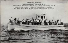 shi053138 - Diesel Yacht Flying D II Sheepshead Bay, NY Ship Postcard Post Card