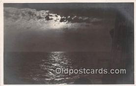 shi053162 - Sonnen Untergana auf Dem Ozean  Ship Postcard Post Card