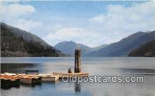 shi053164 - Lake Crescent Storm King Mountain Ship Postcard Post Card