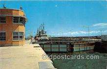 shi053166 - Billion Dollar St Lawrence River Seaway & Power Development Dwight D Eisenhower Lock Ship Postcard Post Card