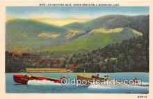 shi053189 - Exciting Race, Speed Boats Mountain Lake Ship Postcard Post Card