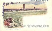 shi054009 - Sandy Hook,Voyage,New York,USA American SouvenirCard Co. Ship Ships Postcard Postcards