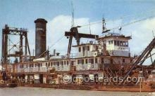 shi055015 - The Dredge Miami Freighters, Ship Postcard Postcards