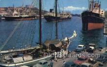 shi055021 - Harbor Curacao NA Freighters, Ship Postcard Postcards