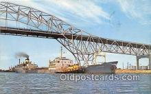 shi055056 - Harbor Bridge Corpus Christi, Texas USA Ship Postcard Post Card
