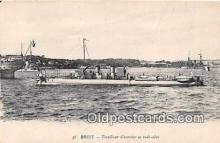 shi055058 - Brest Torpilleur d'Exercice en Rade Abri Ship Postcard Post Card